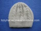 Высокое качество Ангора/шлем Earflap шерстей связанный кабелем с Pompom