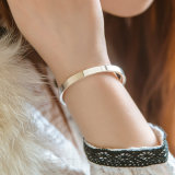 Brazalete de la plata esterlina, joyería de plata femenina, talla ajustada