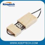 Azionamento di legno promozionale 16GB 32GB 64GB dell'istantaneo del USB del bambù con la sagola