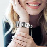 2018 de Nieuwe Armband van de Band van de Pols van het Roestvrij staal voor Fitbit Last 2 Riem