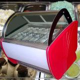 Fabricante de aço inoxidável de Guangdong Popsicle frigorífico congelador de exibição
