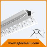 플랜지에 구멍과 건식 벽체 사용을%s 안쪽 구석을%s 중단된 알루미늄 LED 단면도