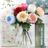 La vente en gros de cheminée de pivoine Jeweled par Faux fleurit la pivoine artificielle de fleur artificielle de guirlande de pivoine de mariage