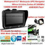 Percorso marino di GPS del motociclo della bici di azione del camion esterno impermeabile dell'automobile con il navigatore di GPS dello schermo di IPS, trasmettitore di FM, sistema di percorso tenuto in mano di GPS