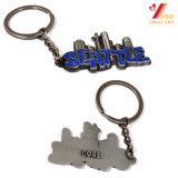 刻まれたロゴ(YB-K-015)の顧客用美しく柔らかいエナメルの金属Keychain