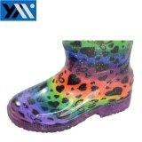 Новый дизайн моды яркие ПВХ обувь детской обуви