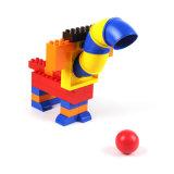 Wange que tiende bloques huecos de la historieta educativa plástica creativa de las ideas de los juguetes de los cabritos