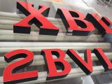 3D-реклама Металлический светодиодный знак логотип канала с ЧПУ письмо машины