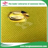 レストランの良質の使い捨て可能なテーブルクロスのためのNonwoven黄色いシリーズの