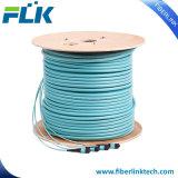 12 코어 광섬유 MTP/MPO 트렁크 케이블 Om3 접속 코드