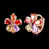 꽃 모양 소녀 귀 장식 못 혼합 색깔 다이아몬드 Inste 보석 귀걸이
