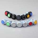 No símbolo de energia de plástico de interruptor de botão de pressão luminoso