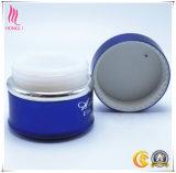 vaso della crema di imbiancatura/notte dell'azzurro 15ml con la protezione rotonda