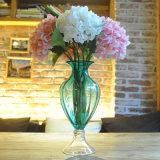 Cheap Wholesale Seda artificial artificial de la flor de plástico de Flor de hortensia