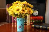 Potenciômetros de flor do jardim com punho