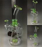 Tabaco fabricante Recycler Tall tazón de vidrio de color de la cuchara de artesanía Cenicero de cristal de la burbuja de los tubos de embriagadora Vaso de Agua