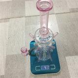 A SOLHA cor-de-rosa do reciclador do Mothership equipa a tubulação de água de vidro de fumo do petróleo