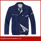 안전 겨울 (W62) 동안 사려깊은 악대를 가진 주황색 파란 작동되는 양털 재킷