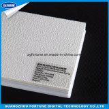 El papel pintado solvente de Eco con textura áspera del yeso en plata brilla papel de empapelar