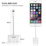 Uso 4 en 1 carga/adaptador del cable del relámpago de la música/de la llamada para el iPhone 7/8/X más