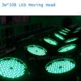 단계 가벼운 3W RGBW 세척 108 LED 이동하는 헤드