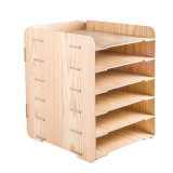 Estante de escritorio de madera del almacenaje del papel de DIY