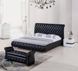 현대 가정 가구 수직 두 배 가죽 침대