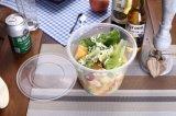 PP 까만 마이크로파 동결 안전한 플라스틱 테이크아웃 음식 콘테이너