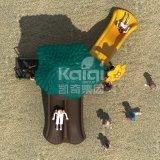 Напольная спортивная площадка серии джунглей для парков детей с высоким качеством Kq60053A