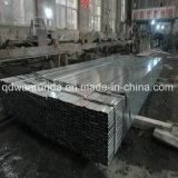 Pipe en acier rectangulaire avec la surface galvanisée par qualité