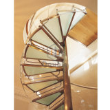 Paso de vidrio nuevo diseño de la escalera en espiral para Inoor