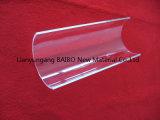 Effacer la moitié de poli Tube de verre de quartz Ronde courbée de la plaque de quartz