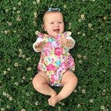 Vestiti appena nati delle neonate dei capretti, pagliaccetto floreale Playsuit della tuta + attrezzature della fascia