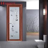 Porte en aluminium de bonne qualité d'isolation thermique pour la salle de bains