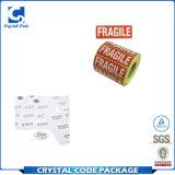 Étiquette fragile adhésive permanente de collant d'instructions de soin d'expédition