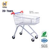 Ue60A 60L Europa Style Carrinho de Compras de supermercado de metal com 4 rodas giratórias