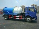 Camion d'aspiration d'eaux d'égout de Dongfeng 4X2 avec la pompe de vide