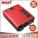 パキスタンの市場のためのDC 24V 2400vaのハイブリッド太陽インバーター