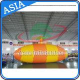 Brinquedos infláveis da água do salto da gota do Aqua da catapulta do lago colorido grande feito sob encomenda