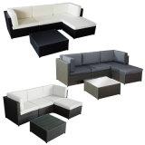 プールのための黒いPEの藤の屋外の家具