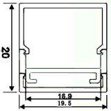 4108 Profil des Aluminium-LED für Schrank-Licht mit LED-Streifen