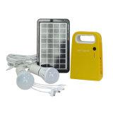 Ahorro de energía portátil y Kit de Iluminación Solar con batería de plomo ácido