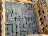 Basalto preto natural do projeto que pavimenta a pedra do godo para ajardinar/pátio/entrada de automóveis