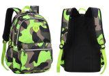 Sac à dos d'épaule de double de grande capacité de cartable de camouflage du cartable de trois enfants de couleurs