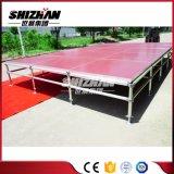 Etapa ajustable de la altura de la etapa de aluminio al aire libre portable de la etapa de la madera contrachapada