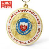 Medaglia della partita di football americano di calcio, trofei di calcio e medaglia su ordinazione all'ingrosso