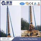 Hot Sale de la construction de forage de vis de vidange hydraulique / Vis Pile Driver (hfl40)