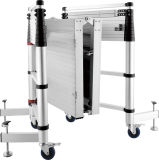 De Treden van de Ladder van de Steiger van het aluminium met Wielen en Platform