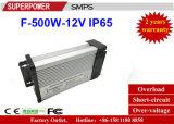 Alimentazione elettrica a una uscita Rain-Proof di commutazione di serie di CC 12V 500W SMPS del driver del LED nuova