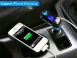 2.1A LCD 디스플레이 차 장비 Bluetooth 무선 차 MP3 FM를 가진 차 라이터는 두 배 USB로 전달한다